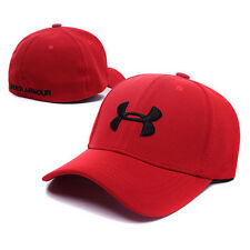 Under Armour Branded Baseball Cap Men Fitted Cap Women Red fitted cap Dad Hat