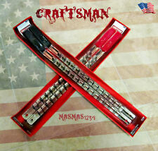Craftsman 4-pc socket rack/rail organizer MM SAE 1/2 & 3/8 in Drive Made IN USA