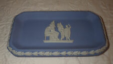 "Wedgwood Jasperware Blue Trinket Pin Tray 6"" x 3"""