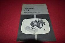 John Deere 256 Scarifier Scraper Operator's Manual BWPA