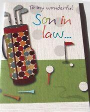Son In Law Birthday Card BonBon Range Golf Theme