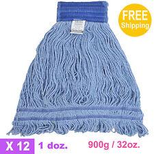 1doz. 900g/32oz. SunnyCare #22902 Blue Synthetic Cotton Loop-End Wet Mops 12/CS