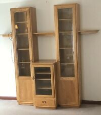 SUPERB MODERN RARE ERCOL  GLAZED BOOKCASE/CABINET VERY CLEAN  2 MAN DELIVERY