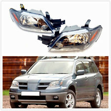 Car Front Head lamp Headlights Assembly Set For MITSUBISHI Outlander 2003-2005