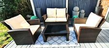Rattan Furniture, Patio, garden, Sofa, 2 Armchair 1 Table. arialifestyle.co.uk