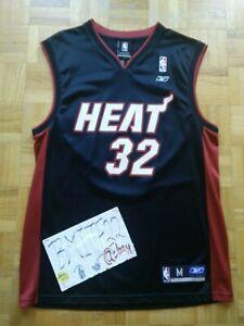 Shaquille O'Neal Miami Heat Away Black Reebok Replica Jersey Men Medium