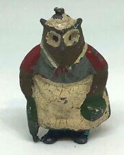Vintage Britain's Cadbury Cococub GRANNY OWL, Lead Toy 1930s