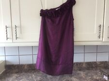 LADIES NEW SIZE 12 ONE SHOULDER KNEE LENGTH PURPLE COLOUR  DRESS