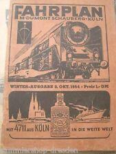 Fahrplan M. Dumont Schauberg Köln, Winter - Ausgabe 3. Oktober 1954, mit Inserat