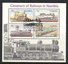 Namibia 1995 Trains/Steam Engines/Rail/Railways/Transport 4v m/s vfu (n20131)