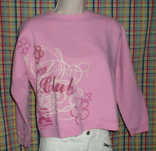 Hanes Crazy Club Girls Pink Long Sleeve Sweatshirt Size XL 14/16 Body:40 L:20