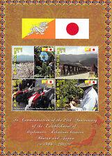 Bhutan 2011 MNH Diplomatic Ties Japan 25th Anniv 4v M/S Relations History
