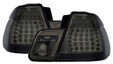 FEUX ARRIERE LED NOIR FUME CRISTAL BMW SERIE 3 E46 01-05 BERLINE 320d 330xd