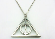 New Harry Potter and Deathly Hallows Pendant Necklace Silver Pendant Chain