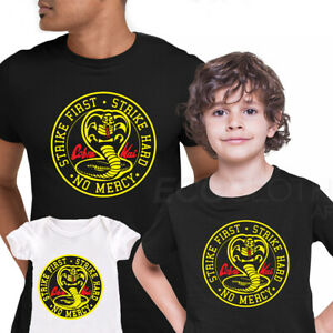 Cobra Kai T-shirt Karate Kid Movie Kung Fu Martial Arts Retro Gift Top ALL SIZES