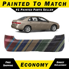 NEW Painted To Match - Rear Bumper Cover for 2003 2004 2005 Honda Accord Sedan