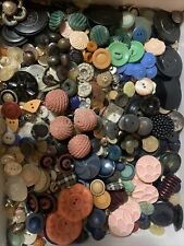 Vintage Buttons Asst Materials Plastic Metal Natural  Buttons 2 Lbs Large Lot