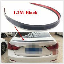 1.2m Sedan Universal Spoiler Glossy Black Rubber Rear Roof Skirt Trunk Lip Wings