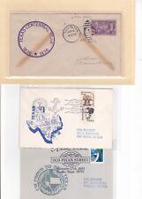 #776 Austin TEXAS Centennial 6/6/1936 The Alamo Falls Hand Inked State + 2 cards