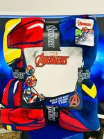 NEW Marvel Avengers Superheroes Oversized Super Soft Plush Throw Blanket 78 x 59