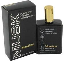 Monsieur Musk By Dana 4 OZ Pure Cologne Spray New in Box Vintage
