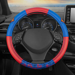 Leather Steering Wheel Cover Official DC Comics Superman Logo Protector Skin