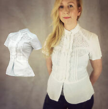 Blouse Fitted Collarless Tops & Shirts for Women