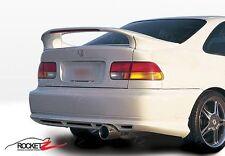 96-00 Honda Civic 2DR Coupe 3PC Rear Wing Spoiler w/ LED Light JDM EK USA CANADA