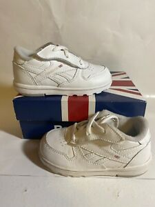 Reebok Versa Classic Leather Fauxe Lace Toddler Size 6