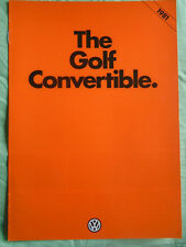 VW Golf Convertible range brochure 1981