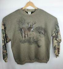 Mens Advantage Timber Camo Camouflage Buck Deer Sweatshirt Pullover XXL Hunting