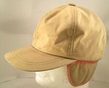 Vintage Tan Hunting Hat w/Earflaps Thinsulate Gore-Tex Small 6 3/4
