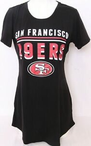 NEW San Francisco 49ers NFL Team Apparel Sleepwear Black SS Shirt Women's M