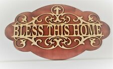BLESS THIS HOME - sign, gift, wall art, door topper, cabinet display.