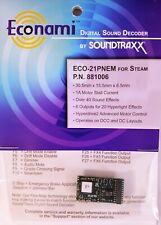 Soundtraxx ECO-21PNEM Steam Sound Decoder 21 Pin NEM version