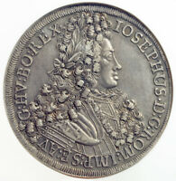 1706, Austria, Emperor Joseph I. Large Silver Thaler Coin. Hall mint! NGC AU+