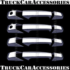 For CHEVY Silverado 2007-2011 2012 2013 Chrome 4 Door Handle Covers w/PG Keyhole