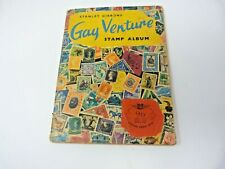 Vintage Stanley Gibbons  GAY VENTURE STAMP ALBUM  with Approx 350 STAMPS