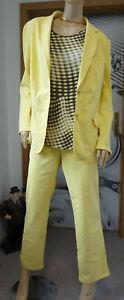 Damen Jeanshosen Anzug Gelb 3 Teilig Größe 46