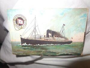 S.S. SONOMA  Liner  ARTIST DRAWN  Postcard  C 1908  c2