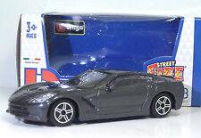 "Bburago 30010 Corvette Stingray (2014) ""Met Grigio"" METAL Scala 1:43"