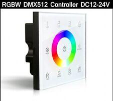 DMX RGBW RGB Controller LED strip touch panel DMX512 Dimmer 4-zone 4CH 12-24V D8