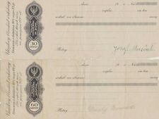 More details for two poland paper cheques 30 & 60 groszy in used condition