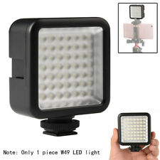 W49 Camera LED Video Light 3 Hot Shoe Mounts Adjustable 6000K For Canon Nikon