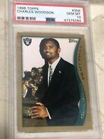 1998 Topps Charles Woodson PSA 10 RC Rookie Raiders Packers Michigan
