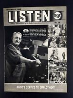 1938 RCA LISTEN 5 Page Pullout Vintage Magazine Print Ad