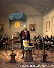George Washington as a Master Mason - Historic Art Print