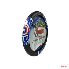 New Captain America Shield Synthetic Leather Car Truck Steering Wheel Cover