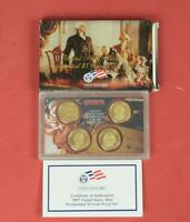 2007 U.S. United States Mint Proof Set: Presidential One Dollar Coins w/Box&COA