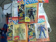 TOY BIZ MARVEL X-MEN SPY WOLVERINE  LOT OF 3 FIGURES MOC VARIANT COLORS
